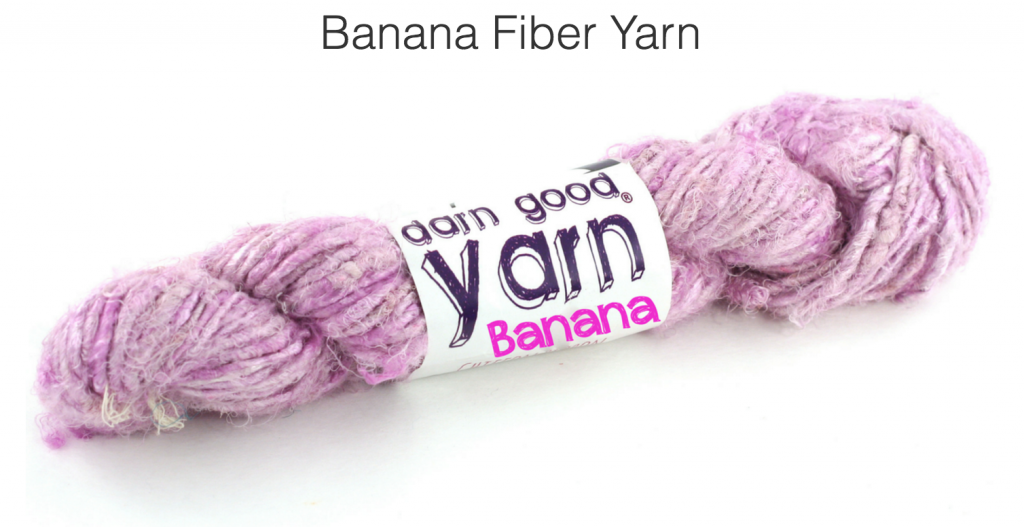 Lilac colored chuncky banana fiber yarn.