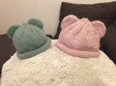 Baby bear hat in 2 sizes and colors