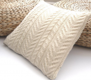 Lovely cable pillow cover