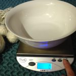 Empty bowl on a digital scale