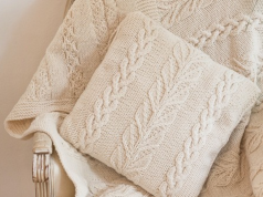 Cable & Leaf Cushion Cover