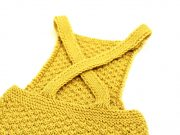 Yellow box stitch baby romper