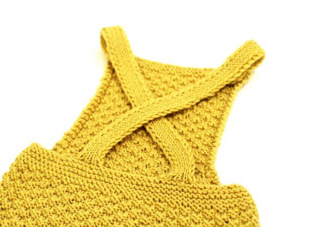 Yellow box stitch baby romper