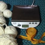 Digital scale, measuring tape and mystery yarn
