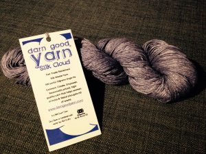 Grey Silk Cloud Lace Recycled Yarn from Darn Good Yarn